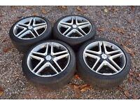 "Genuine 18"" Mercedes W176 A45 AMG Alloy Wheels Michelin Tyres CLA A Class"