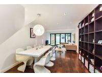 High gloss white contemporary rectangular dining table