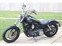 Harley Davidson 2015 FXDB Street Bob Stage 1, Vance and Hines, LOW MILES 2649 Massive amount extras