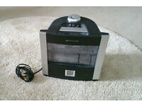 BIONAIRE ultrasonic HUMIDIFIER, black and silver IN GOOD CONDITION