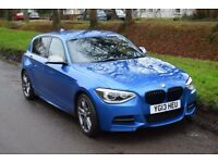 BMW M135i, 315bhp, 5 door, 8spd auto, estoril blue, pro Nav, Harman Kardon stereo