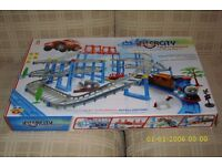 """Intercity"" Battery operated Car track game- incorporating Train and track / BRAND NEW"