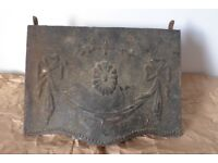 Architectural salvage: Vintage / Antique Cast-Iron Fireplace / Fire Place Hood.