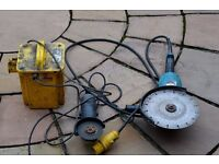 110v makita ga9020 angle grinder / 110v transformer / 240v small angle grinder