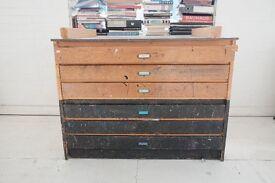 Vintage paper cabinet