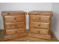 2 Bedside Table/Cabinate Oak Wood