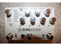 Empress Effects Echosystem Dual Engine Delay Pedal (Basically brand new)