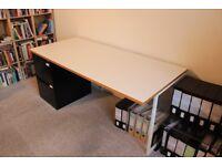 Habitat White Large Desk - Excellent Condition