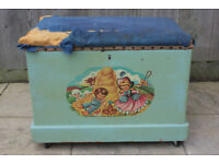 Vintage toy chest box in need of TLC