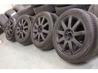Genuine OEM Audi A3 A4 A6 S-Line 17x7.5J 5x112 alloy wheels + tyres VW SEAT SKODA VAG