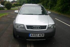 AUDI A6 ALLROAD ALL WHEEL DRIVE ESTATE, 2002, MOT 11/18 ONLY £1450.00 ONO