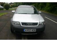AUDI A6 ALLROAD ALL WHEEL DRIVE ESTATE, 2002, MOT 11/18 ONLY £1450.00 ONO