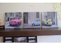 3x Canvas Set