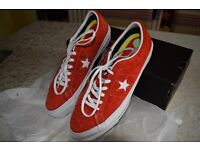 Converse All Star Light Orange Suede sneaker. Size 7. Boxed. New