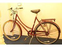 Vintage Raleigh Ladies Dutch Style Loop Frame Town Bike