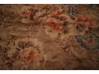 100% Pure Silk Cream Floral Scarf from Accessorize