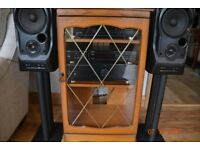 hi fi separates marantz cd player denon amplifier mission speakers / speaker stands /manoganycabinet