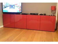 Doors for IKEA Besta storage unit - Gloss Red (excellent condition)