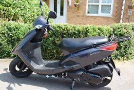 A Yamaha 125 Vity with only 44 miles on the clock in excellent condition and MOT until June 2019