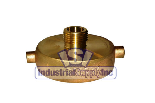 "Brass Fire Hydrant Adapter | 2-1/2"" Female NST x 3/4"" Garden Hose Thread"