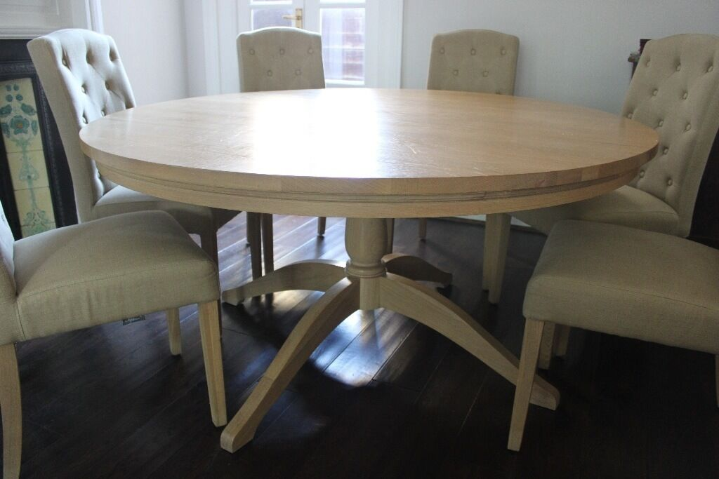 8 Chair Round Dining Table: Neptune Henley Round Dining Table - Seats 6-8