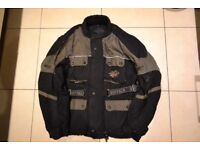 Motorcycle jacket, trousers & gloves