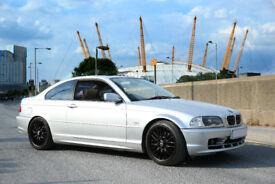 BMW 328 ci SE. E46 3series. Silver with cream interior. Xenon headlights and 1200w amp