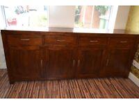 Real wood (walnut) 4 door sideboard