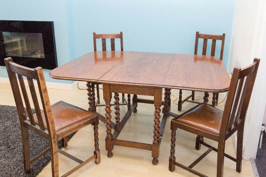 Peachy Antique Dining Table And Chairs Circa 1920S In Springburn Glasgow Gumtree Cjindustries Chair Design For Home Cjindustriesco