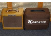 Victoria Amp Co tweed Fender Champ valve combo with Kendrick padded gig bag