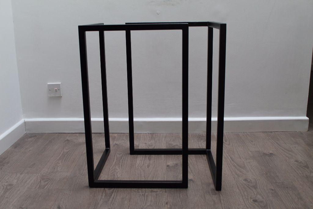 Habitat Nic Small Black Steel Trestle Table Legs W45 X H72 D45cm