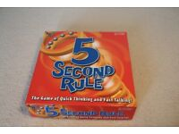 5 Second Rule Board Game Brand New
