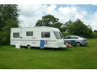 Lunar Lexon EB (end bedroom) 4 berth caravan and awning. Year 2000.