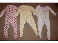 Girl's Sleepsuit Bundle x3 (9-12 months)