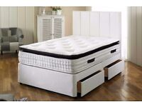 BIG SALE ON!! INTRODUCING DOUBLE DIVAN BASE WITH ROYAL 2000 POCKET SPRUNG MATTRESS --