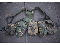 British Army Issue DPM PLCE Webbing Set (ref:cop) - Belt, Yoke, x5 Pouches