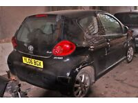 toyota Aygo, Colour black, 2006 year, Breaking and selling for parts for sale.