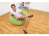 "Green Intex ""Beanless Bag Chair"" inflatable seat"