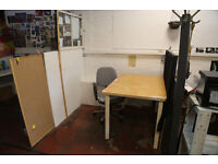 Studio / Desk Space in large shared studio at Hackney Downs Studios - £94 p/m all in!