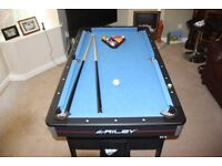 Riley Pool Table / Table Tennis Table (5tf x 3ft) Foldaway - Fabulous Condition!