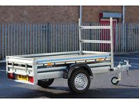Car trailer MARTZ 6'9 x 4'2 (205cm x 125cm) with ladder rack 750kg