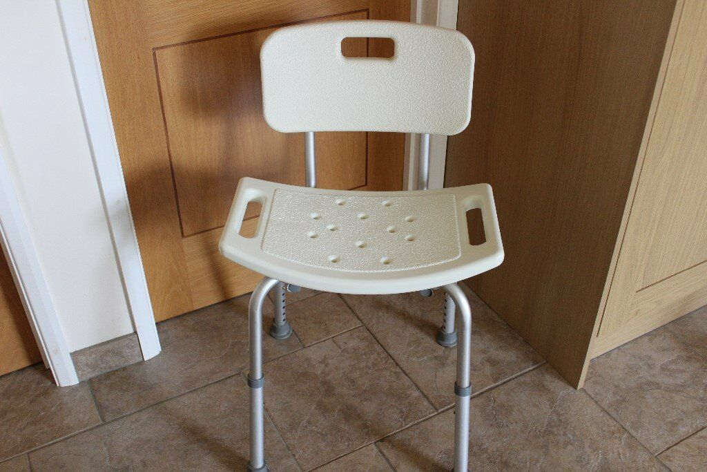 Aluminium Bath Shower Seat Stool Chair Adjustable Height Mobility ...