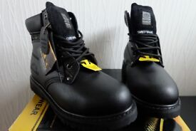 New Groundwork Unisex Leather Safety Shoes size 6 (39.5)