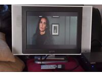20 INCH TV FREE VIEW BUILT IN REMOTE CAN BE SEEN WORKING