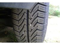 tyres x4 185/65/14 like new of the rims