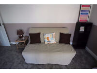 Beige sofa bed - very good condition