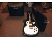 LES PAUL CUSTOM ELECTRIC GUITAR WITH HARDCASE & MARSHALL G30R -CD 80 WATT AMP IN SUPERB CONDITION