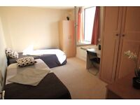 Perfect twin room in Arsenal with stadium view and sounds !! All bills included with the price!