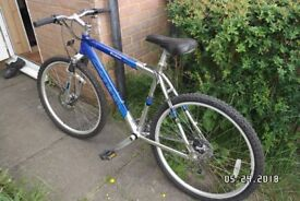 CARRERA KRAKAN. 18 INCH. 24 GEARS FRONT AND REAR DISK BRAKE. FRONT SUSPENSION. £115.00