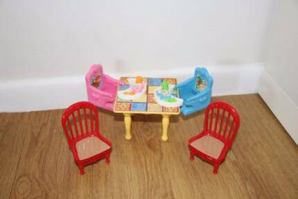 Kitchen Table Furniture Set For Fisher Price Doll House